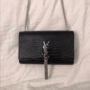 Saint Laurent YSL Kate Tassel Medium black Silver